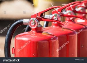 stock photo fire extinguishers